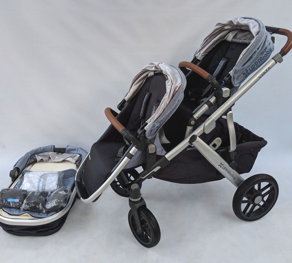 Uppababy Vista Double stroller 2017 Henry Blue marl