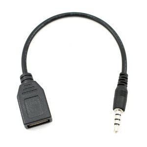 Usb Female To Aux 3 5mm Male Jack Plug Audio Converter Adapter Data Charge Cable By Unknown 4 99 This Cable Can Only Be Used In The Car Aux Hol Plug