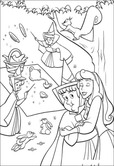 Sweet Aurora Coloring Page For Girls Cartoon Coloring Pages Disney Coloring Pages Sleeping Beauty Coloring Pages