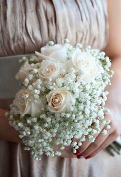 Gypsum Flower Bouquets Google Search Bridesmaid Bouquet Bridesmaid Flowers Wedding Flowers