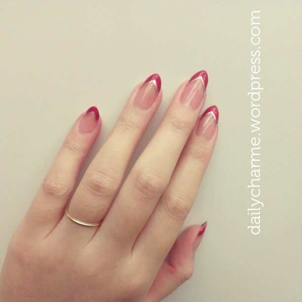 Lana Del Rey Inspired Red Tips For Stiletto Nails With Images