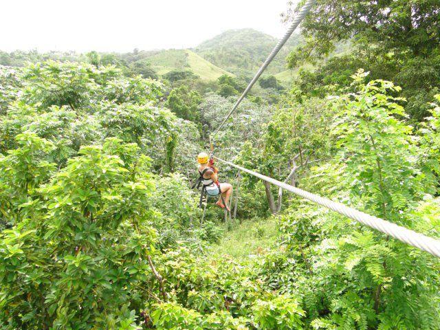 Zip Line Through The Jungle Ziplining Adventure Tours Punta Cana