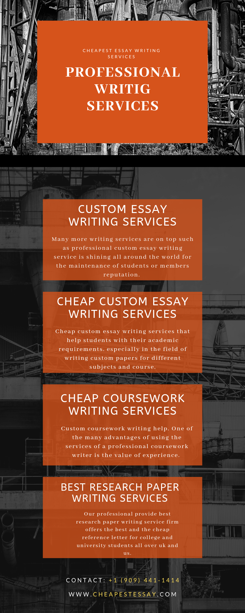Professional writing services from experts with knowledge