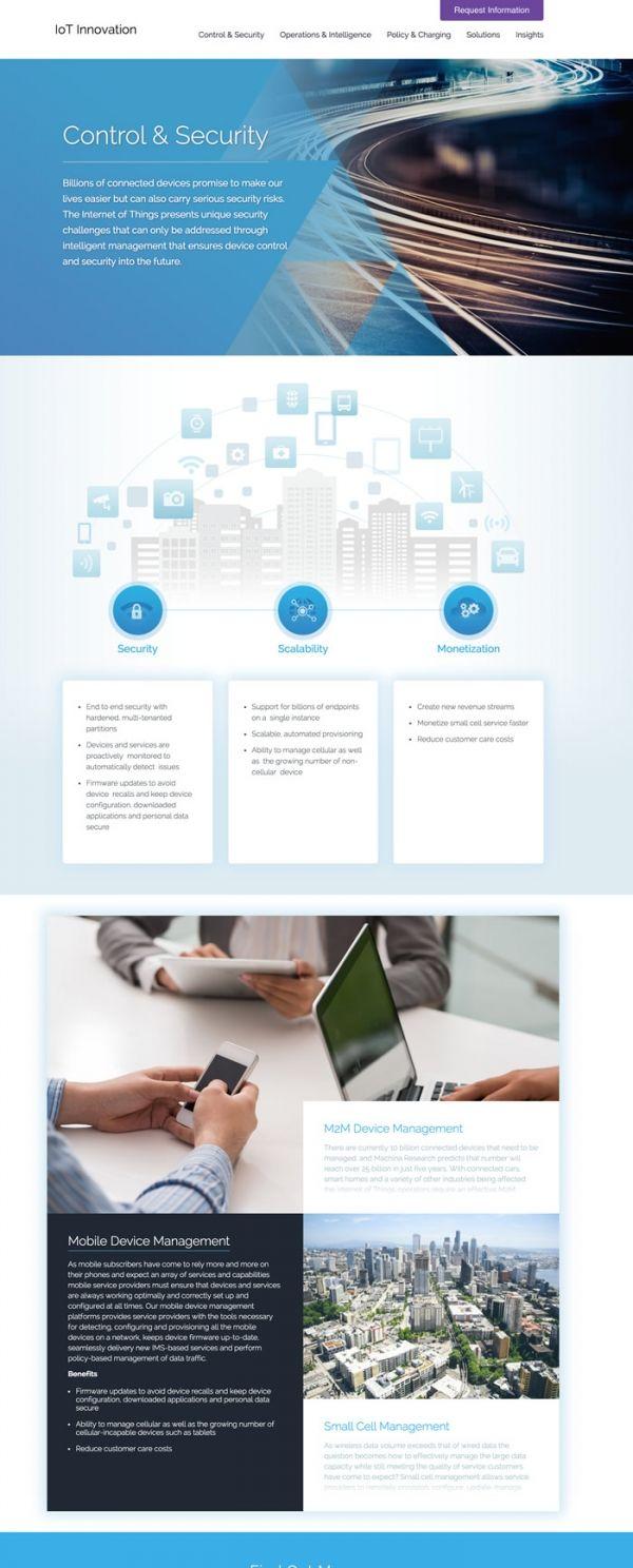 Internet Of Things Innovation Website Design Website Design Web App Design Design