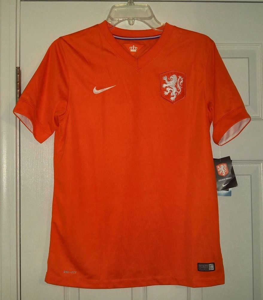 9d638bf9ff4 NEW Nike Holland KNVB Authentic Soccer Jersey BOYS XL Orange 577956 Kids  Youth  Nike  Holland