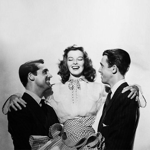 Katharine Hepburn And Jimmy Stewart And Cary Grant From My All Time Favorite Movie Philadelphia Sto The Philadelphia Story Katherine Hepburn Movie Stars