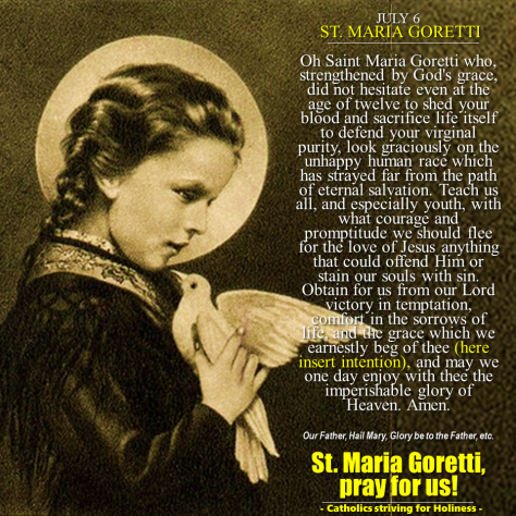 st maria goretti small but mighty Information about st bernard of clairvaux music ministry, scottsdale, az.