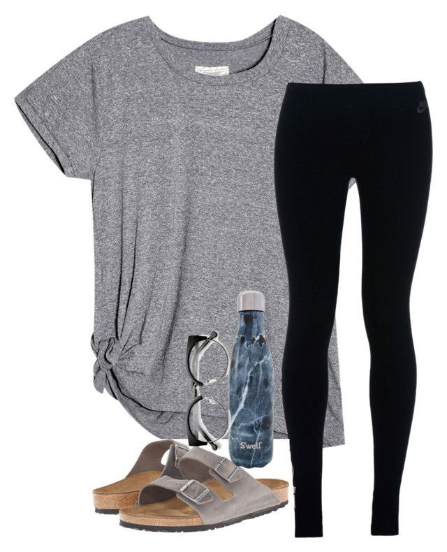 #sommer #outfits / Gree T-Shirt + Schwarze Leggins #schooloutfit