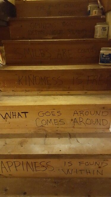 Wrote these out in Sharpie before I paint the cellar stairs.