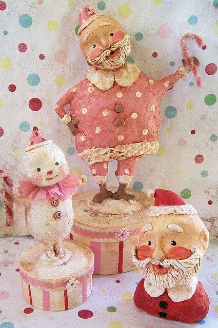 STJ Christmas in Sept   Dolls   Paper clay art, Christmas, Paper