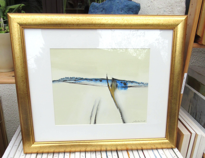 Papier A Peindre Epais le chant des vagues: peinture gouache abstrait de racines