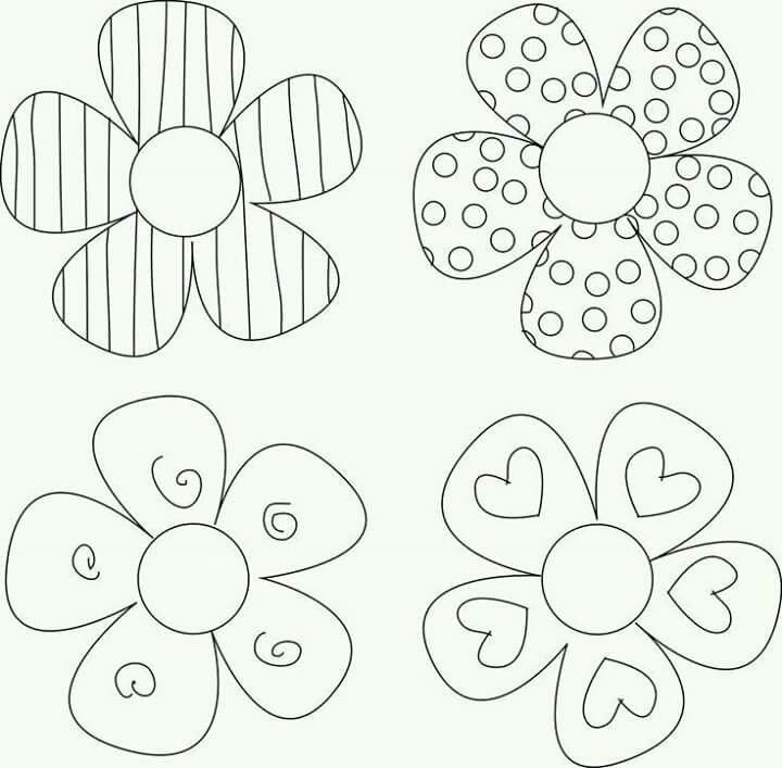 Patch Aplique Flower Craft Project Ideas Templates And Printables