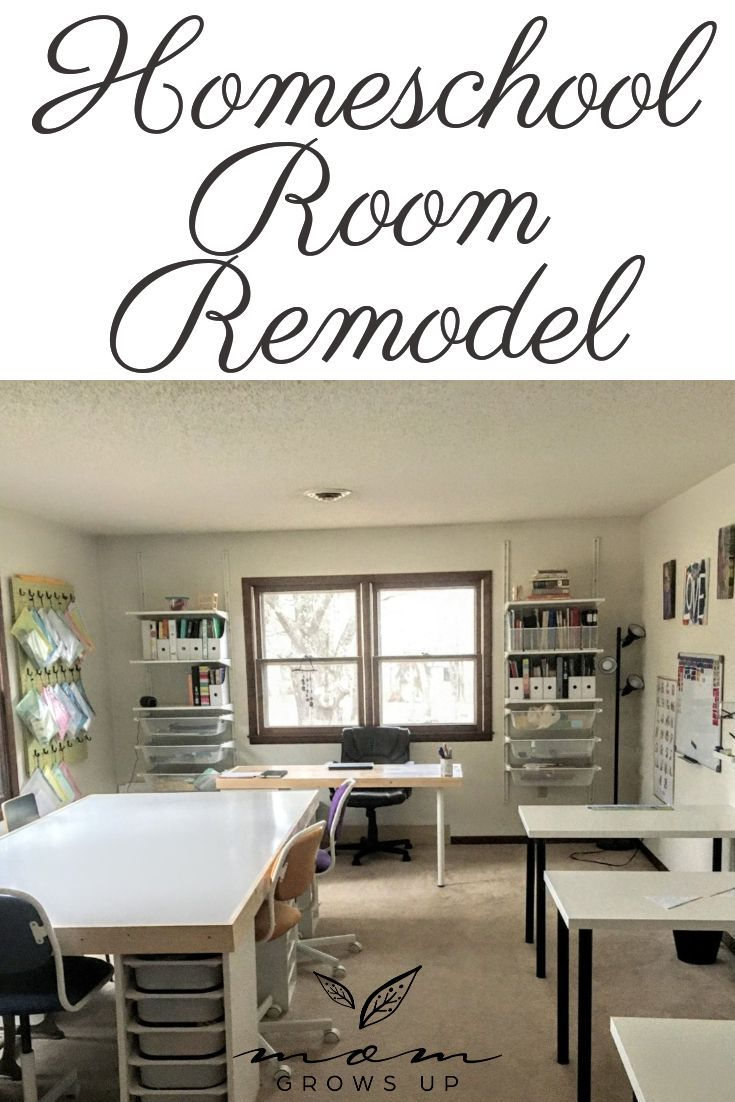 Homeschool Room Remodel in 2020 Small space homeschool
