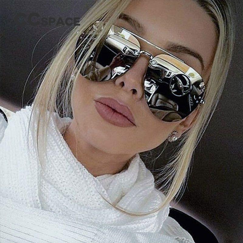 4451d410e7f12 Aliexpress.com  Compre CCspace Senhoras Das Mulheres Dos Homens do Aviador  Óculos De Sol