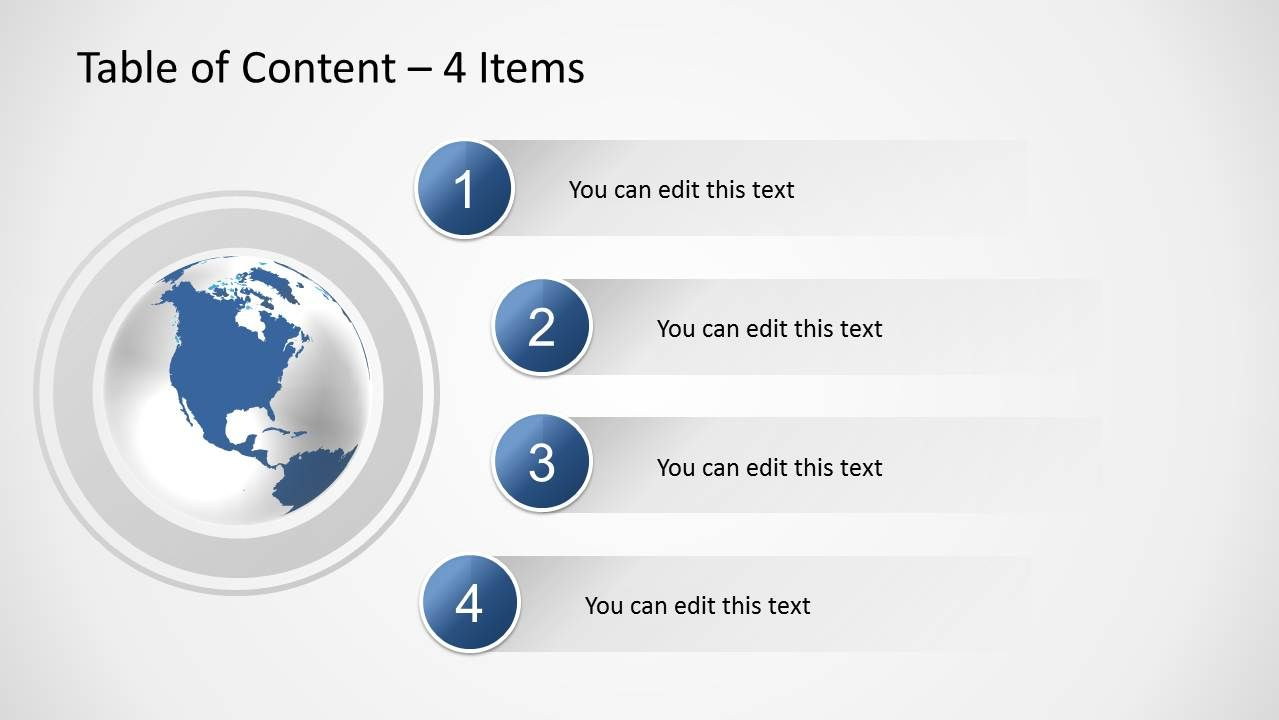 Table Of Content Slides For Powerpoint Simple Powerpoint