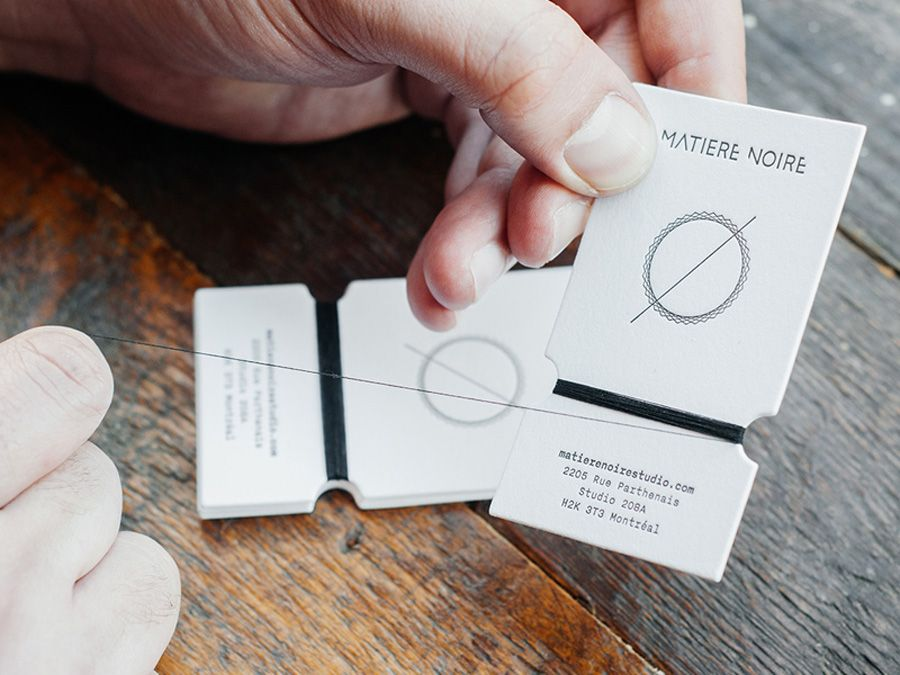 creative minimalistic business cards