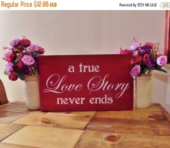 30% OFF SALE A True Love Story Never by MSVUniqueCreations on Etsy