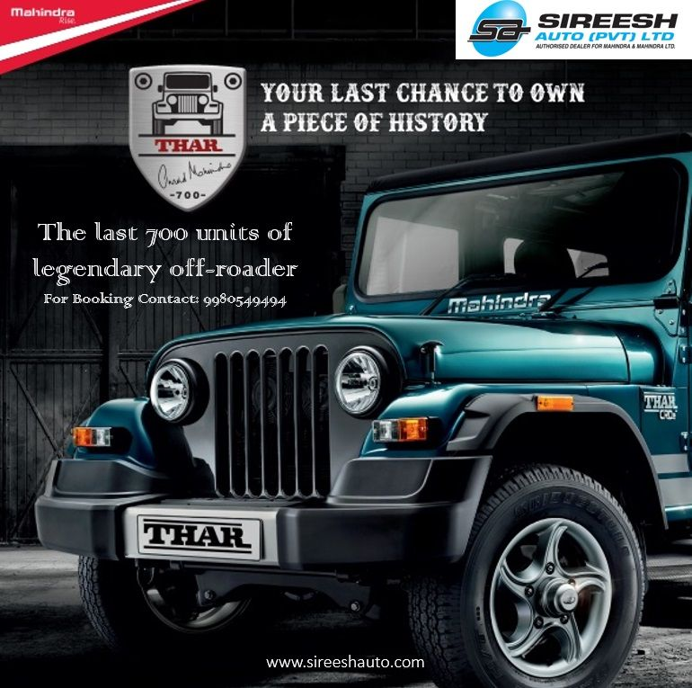 Mahindra Drives In The Thar 700 The Last 700 Units Of Legendary