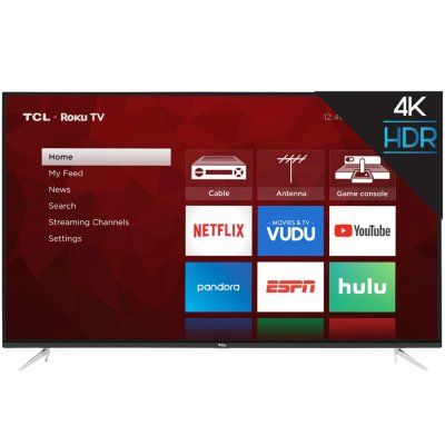 "TCL 55"" Class 4K UHD Roku Smart TV 55S423 Smart tv, Tv"