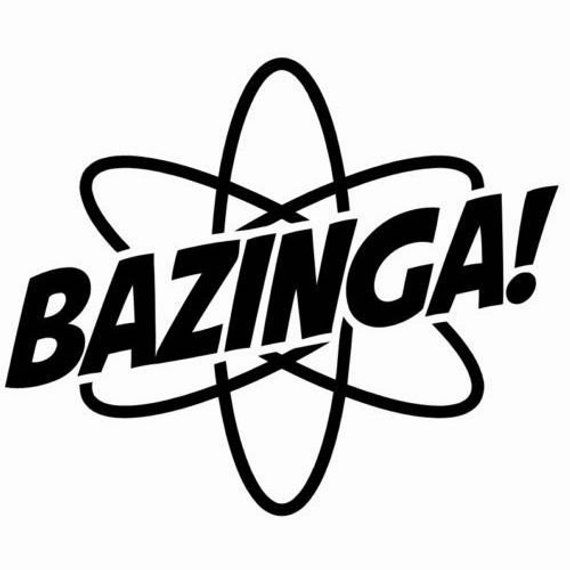 diy bazinga word vinyl decal  big bang theory  car window decal  laptop decal  tablet decal