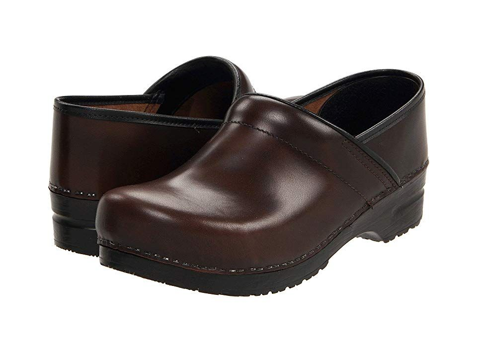 4eb139624 Sanita Professional Cabrio - Mens Men's Clog Shoes Brown Brush Off Leather