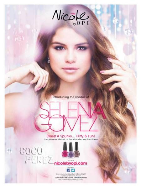 Selena Gomezs Ad For Her Nicole By OPI Nail Polish Collection Is Revealed