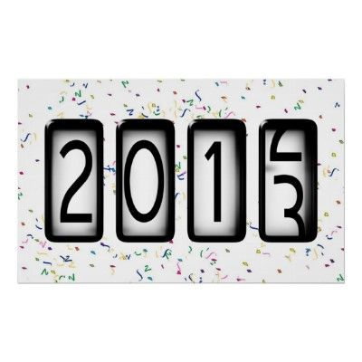 2013 New Years #Odometer Poster by #NewYearsCelebration
