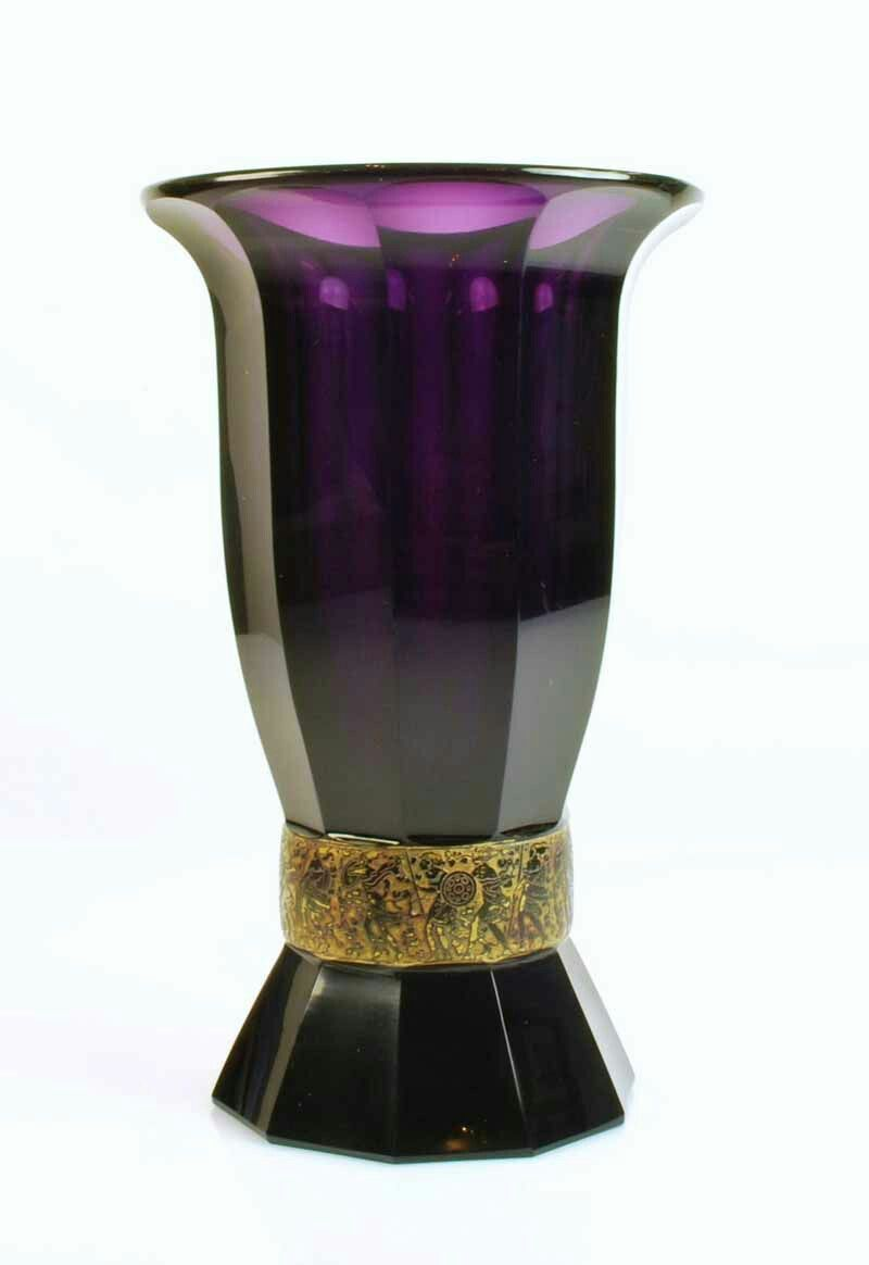 Moser karlsbad amethyst glass vase c1900 manufactured bohemia moser karlsbad amethyst glass vase c1900 manufactured bohemia cut and faceted glass reviewsmspy