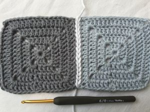 Photo of Crochet Granny Squares together