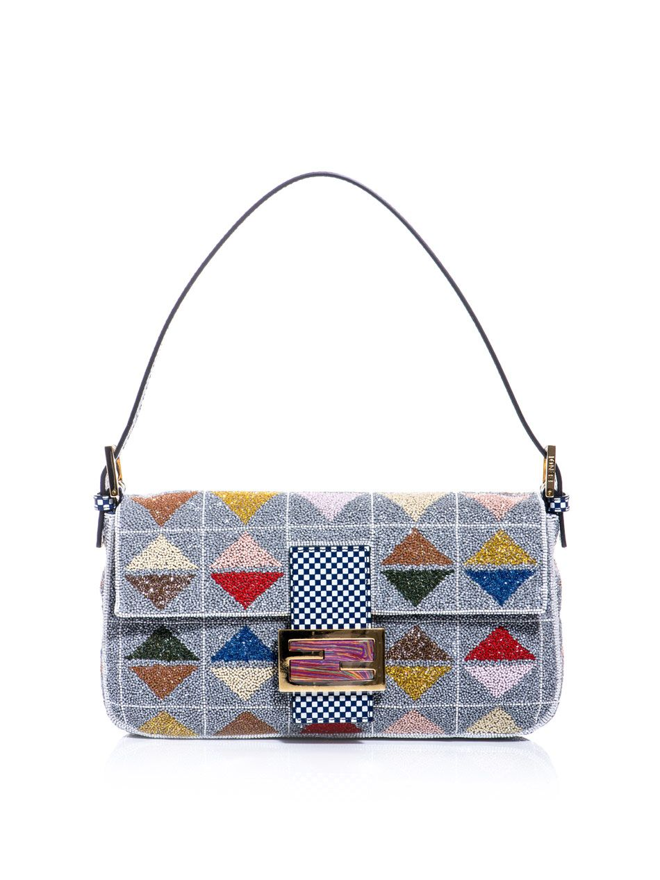 3b00ce8dfde6 Fendi Graphic beaded Baguette bag