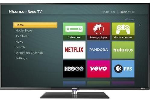 """40"""" Hisense 1080p Smart LED Roku HDTV 280 + Free Shipping"""