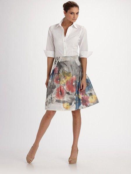 e5025d874e587 Carolina Herrera - White Three-quarter Sleeve Blouse - Lyst