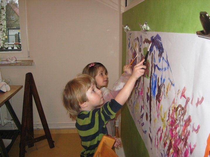 Die Malwand Im Atelier Kindergarten Mobel Roller Jahreskreis