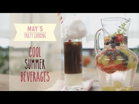 "[May's Party Cooking] Cool Summer Beverages ""Fruit Punch & Vietnam Coffee"" 후르츠 펀치 & 베트남식 연유 커피 - YouTube"
