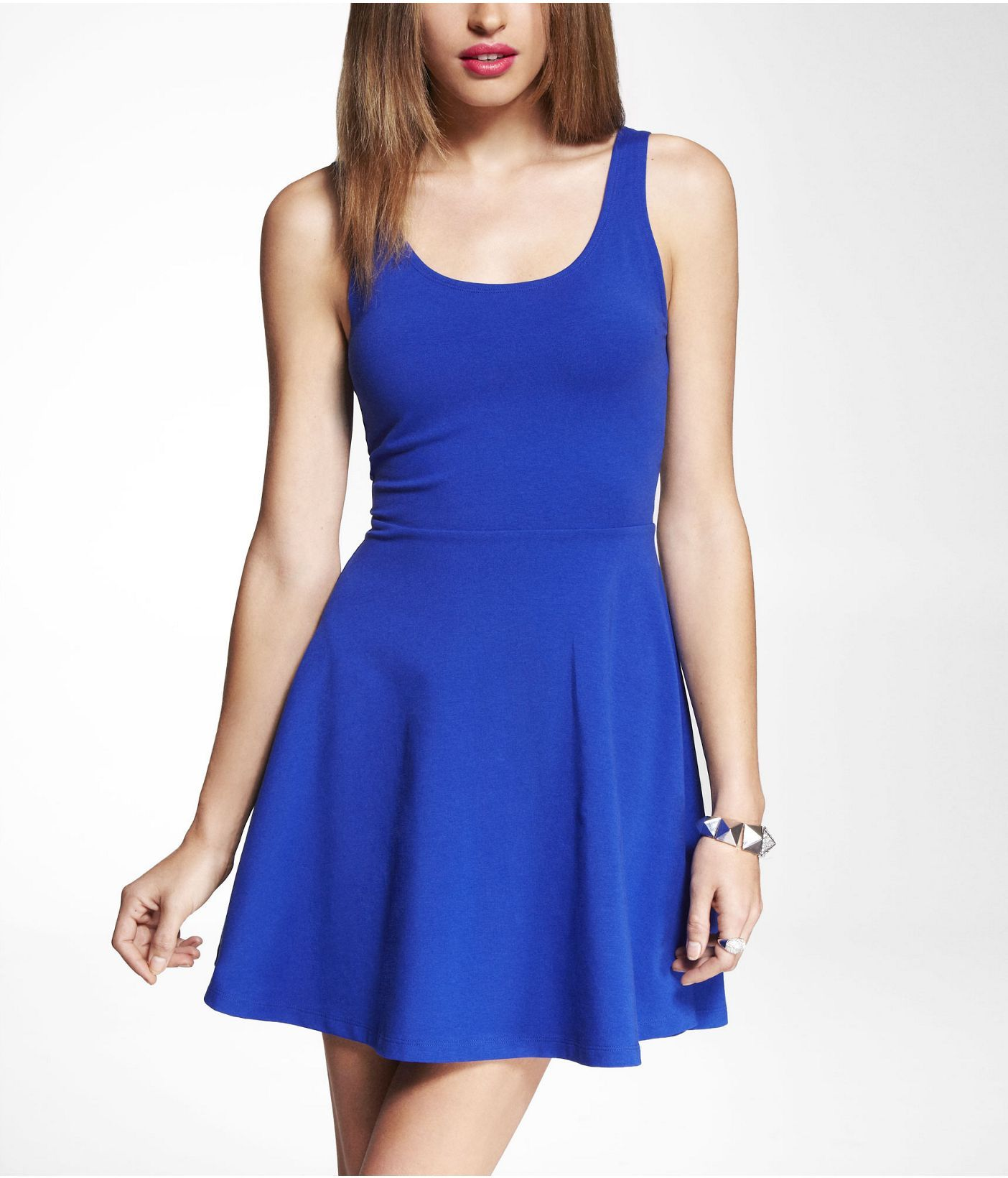 3bc64c65cf24 STRETCH COTTON SKATER DRESS
