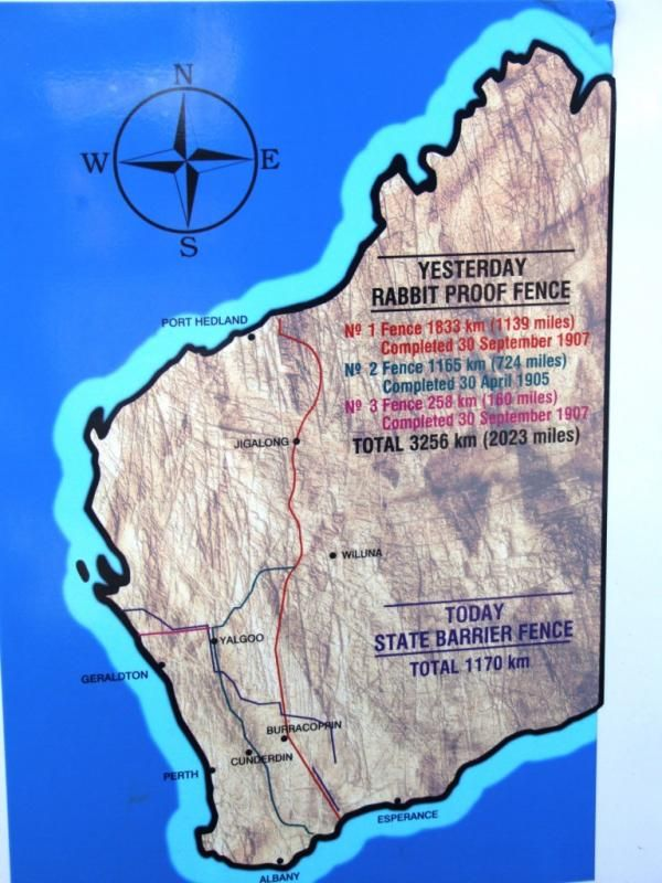 Map Of The Rabbit Proof Fence In Western Australia Known Today A State Barrier Summary Writing Review Essay Format