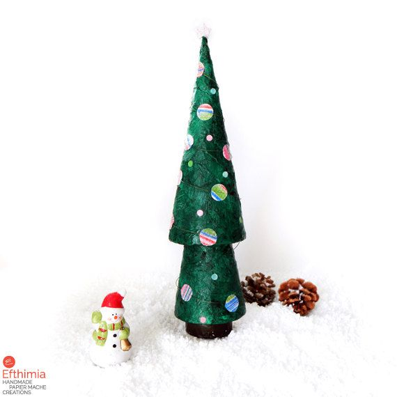 Paper Christmas Tree Papier Mache Christmas Tree Paper Xmas Etsy Paper Christmas Tree Alternative Christmas Tree Christmas