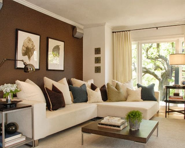 Accent Walls When They Work Emily A Clark Accent Walls In Living Room Brown Walls Living Room Living Room White