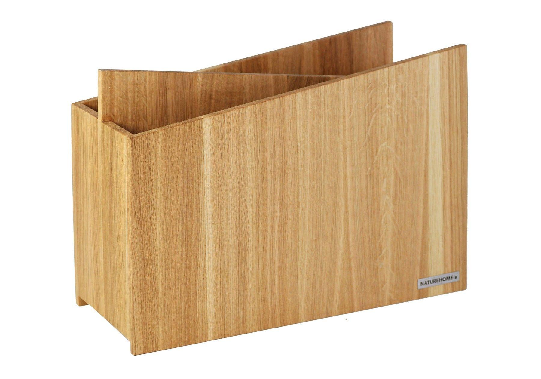 Zeitungsständer Holz zeitungsständer skript aus holz zwei fächer buche eiche oder