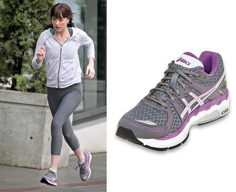 Anastasia Steele (Dakota Johnson) wears an ASICS Women's GEL-Forte Running  Shoe in