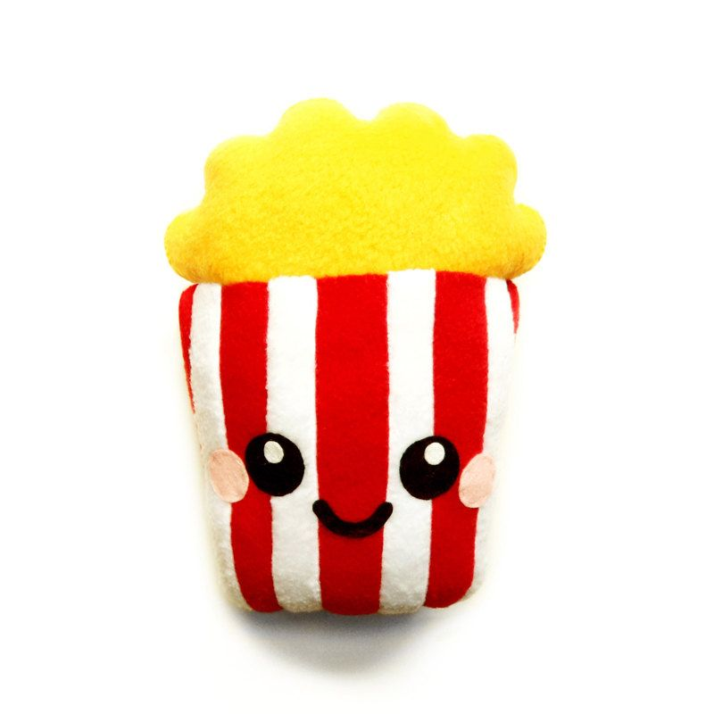 Popcorn Plush Cushion fun food home kitchen decor (16.00 GBP) by LittleMissDelicious