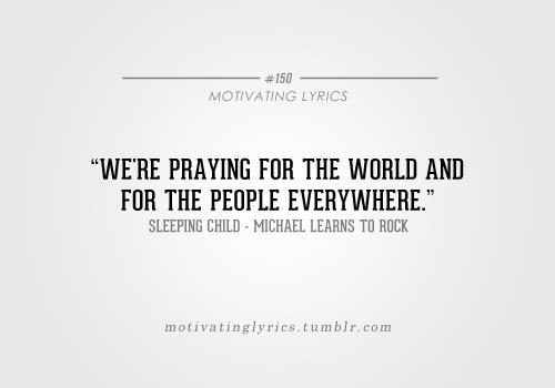 Sleeping Child Michael Learns To Rock Lyrics Faith Hope