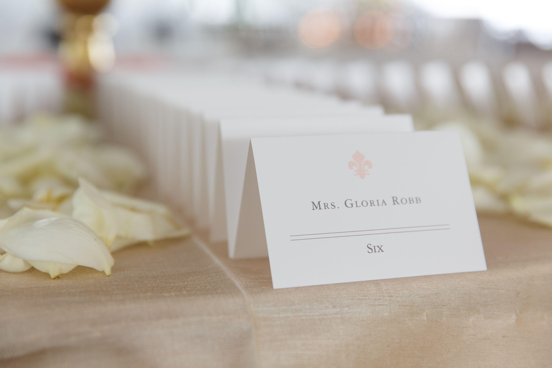 Escort Cards. Fleur De Lis. Custom Designed and Printed by La Petite ...
