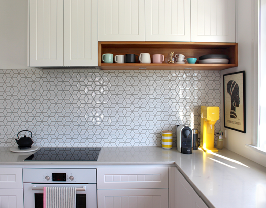Coffee Coloured Kitchen Wall Tiles