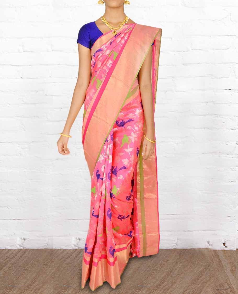 Chanderi Silk Sarees CSVT001 - Pure Silk Sarees