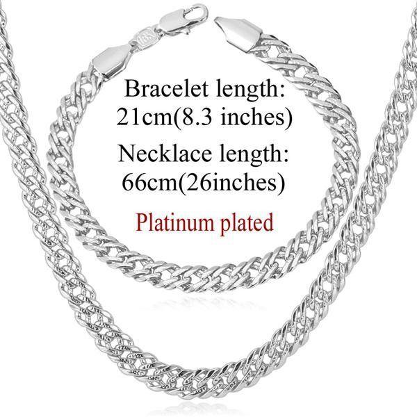Elegant 18K Gold PlatinumRose Gold Plated Necklace Bracelet