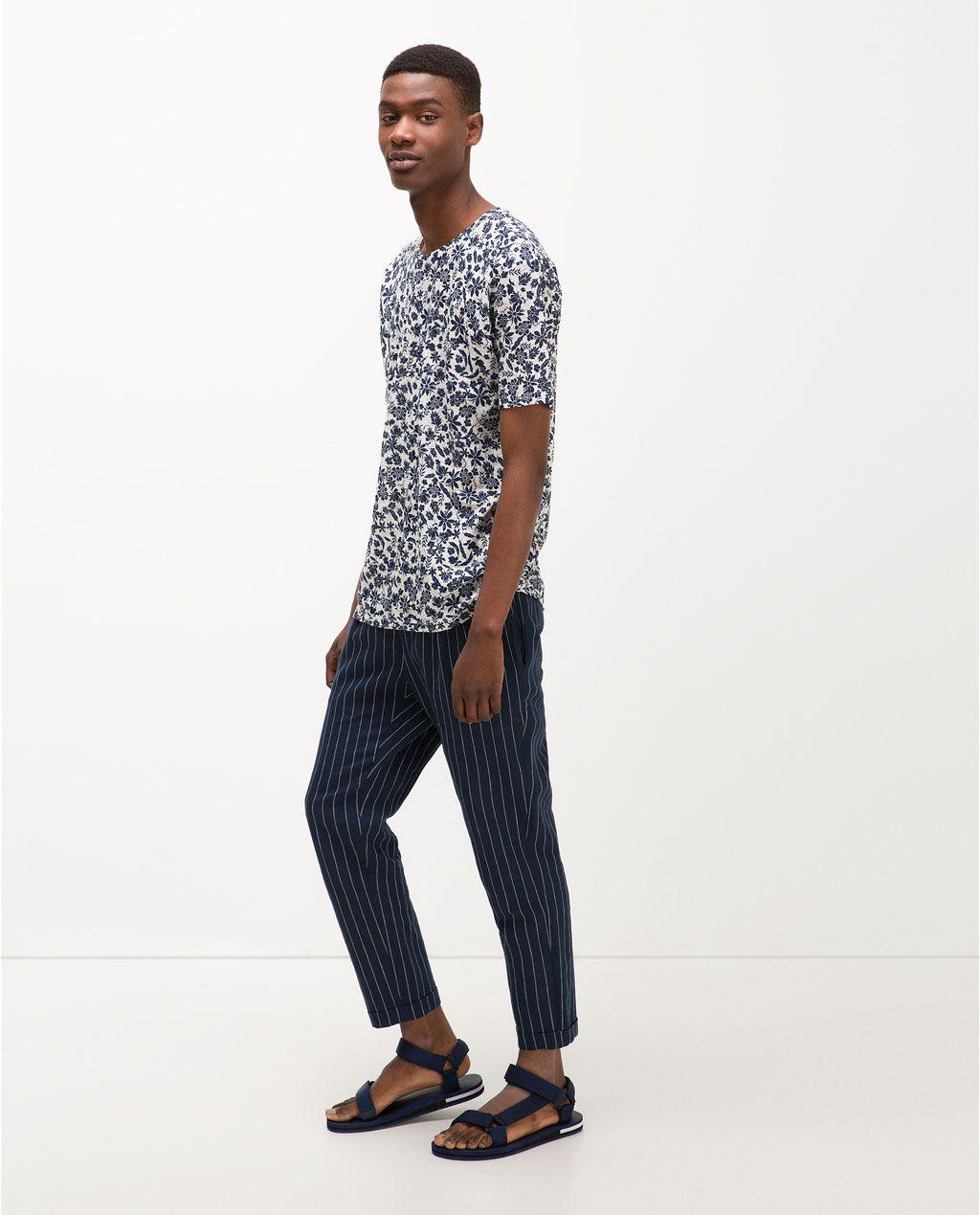 Zara black t shirt india - Linen T Shirt