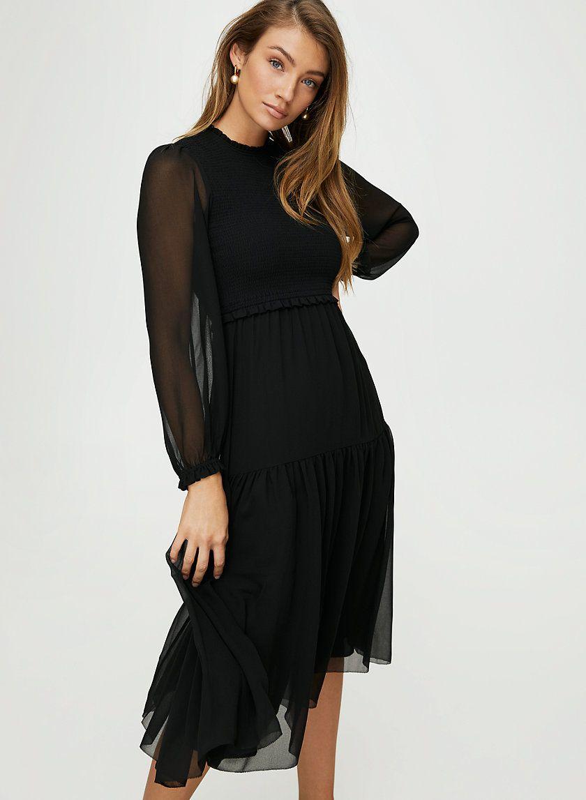 Rosalyn Dress Black Chiffon Dress Chiffon Midi Dress Dresses [ 1147 x 840 Pixel ]