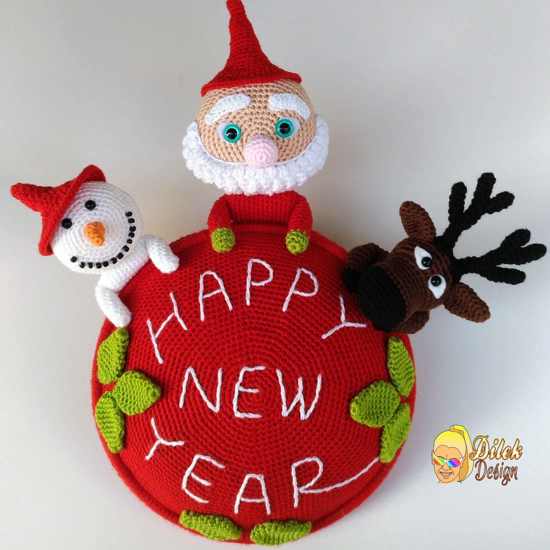 Photo of Crochet pattern – Christmas wreath – Santa Claus – Snowman – Winter wreath – Holidays – Crochet wreath – Hangers – PDF – Reindeer – Wreath