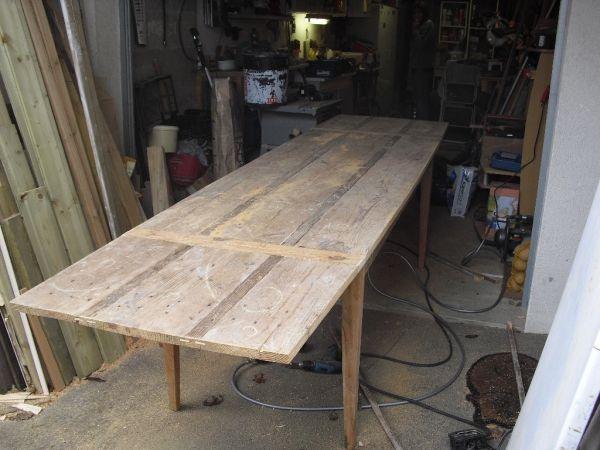 fabrication de table par toutenbois37 les cr ations pinterest table planche de coffrage. Black Bedroom Furniture Sets. Home Design Ideas